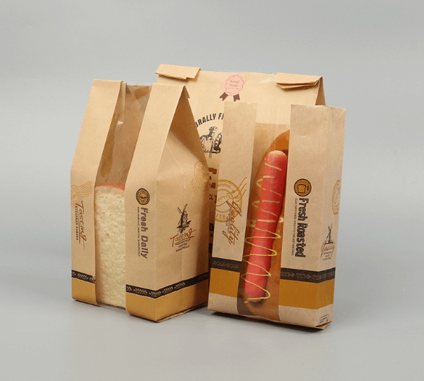 kraft paper bread bag without handle