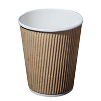 Kraft Paper Coffee Cups Milk Tea Cups With Switch Lid Party Paper Cup