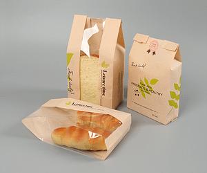 Kraft Food Packaging Storage Bakery Bag with Front Window