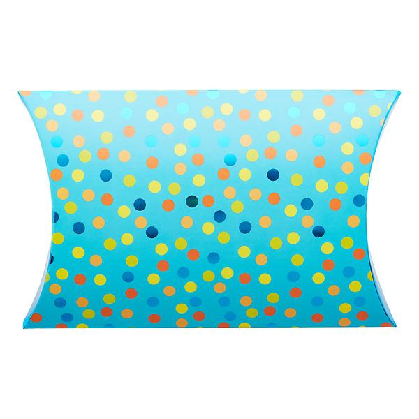 pillow gift box confetti blue