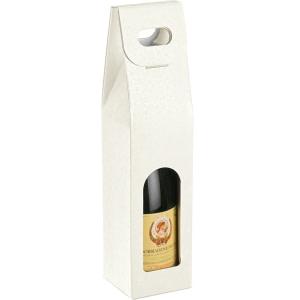 Sfere Bianco White Bubble Single Bottle Wine Carrier Boxes