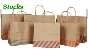 Factory Wholesale Stocked Kraft Paper Bags For Clothes Gift Packing Design
