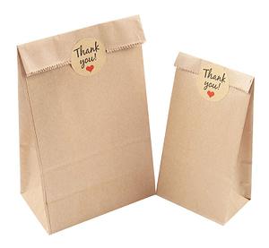 brown kraft custom tin tie bags with window