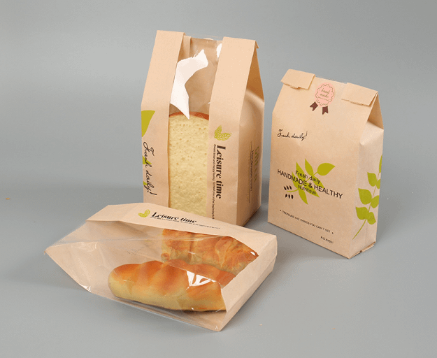 Food Packaging Storage Bakery Bag with Front Window