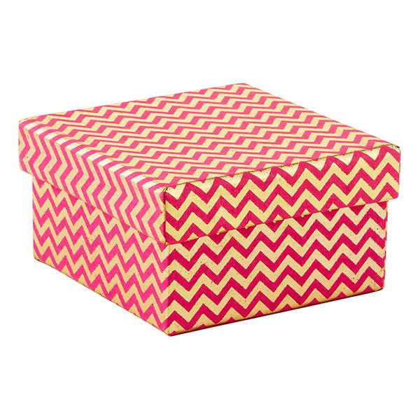 Recycled Box Chevron Pink&Gold_