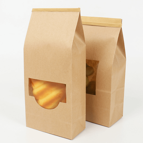 Bread paper bag with wire seal