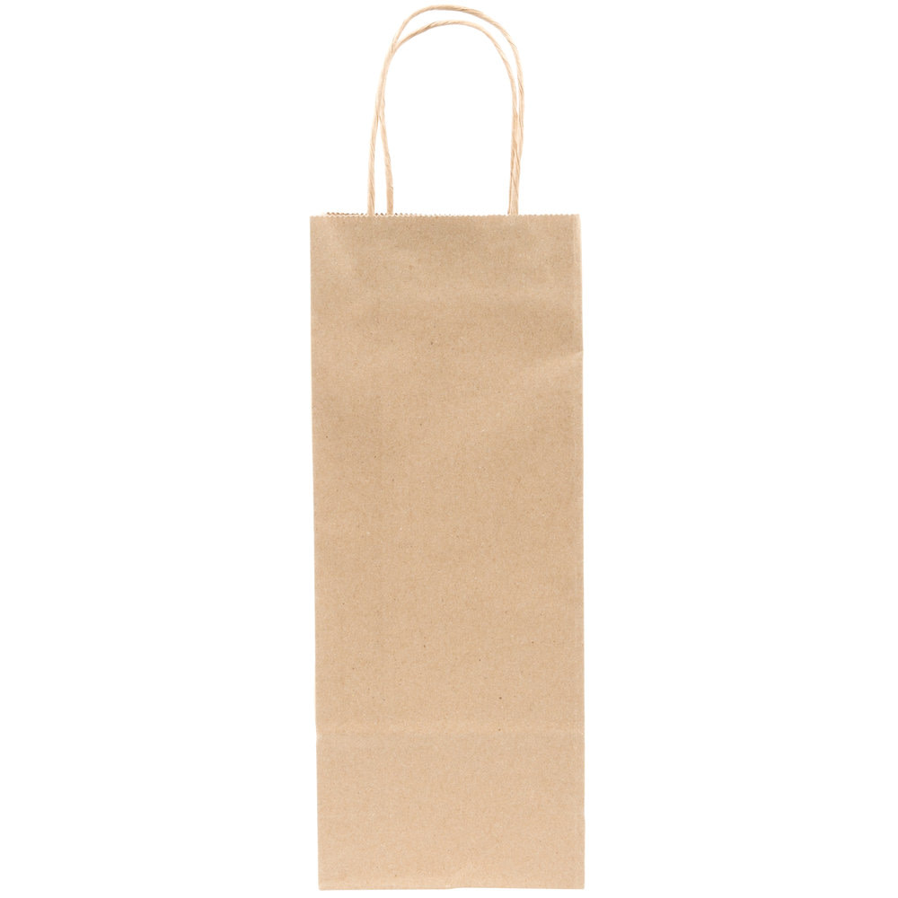 kraft wine bags with handle