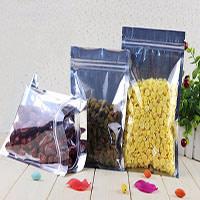 Clear Aluminum Foil Bag Self Seal Zipper Ziplock Packing Food Bag