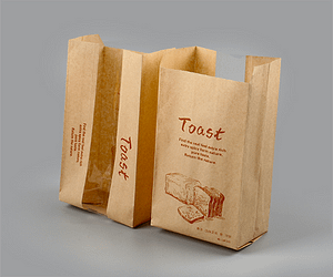 French baguette bakery bread sandwich bag