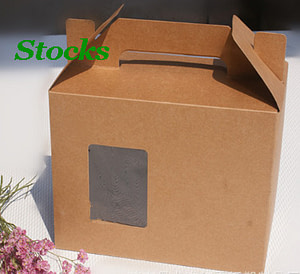500gsm kraft paper bags with window