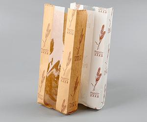 Baguette kraft paper bread bag with window Bread paper bag