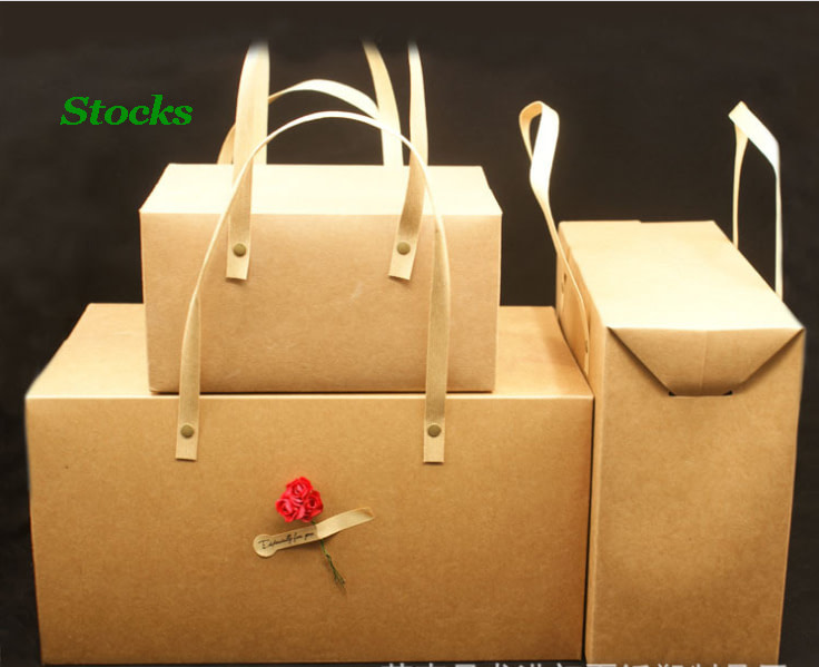 three size kraft paper bag with handle